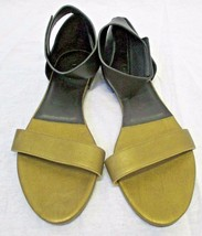 CHLOE Black & Bronze Leather Two Tone Ankle Strap Sandal - Size 39 - New $525 - $155.00