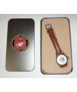 United States Marine Corp Wristwatch brown unisex USMC watch H26 - $37.77