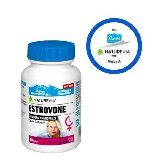 Genuine Swiss Natural Estrovone isoflavones 90 tablets for menopausal women NEW - $35.50