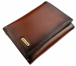 Nautica Men's Leather Credit Card Passcase Wallet Trifold Tan 31NU11X017 image 1