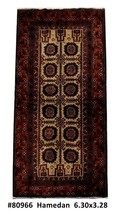 Hamadan Lustruous Wool Premium Quality Hand Knotted Rug 3' x 6' Persian - $254.32