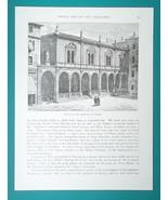 ITALY ARCHITECTURE Venice Padua Verona Brescia -  (6) Woodcut Illustrati... - $8.99
