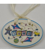 Longaberger Pottery 1999 Baby Basket Tie-On Decorative Collectible Home ... - $7.99