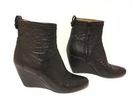 BALENCIAGA Black Leather Wedge Boots--SZ 41--VERY GOOD CONDITION!!! - $290.12
