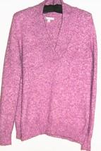 WOMEN' PURPLE V NECK SWEATER SIZE  COFT & BARROW - $6.00