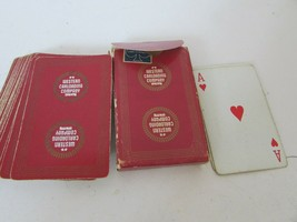 VTG DECK OF PLAYING CARDS  WESTERN CARLOADING CO RED S1 - $2.91
