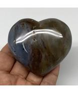 "163.5g, 2.4""x2.7""x1"" Ocean Jasper Heart Polished Healing Crystal, B4920 - $18.70"