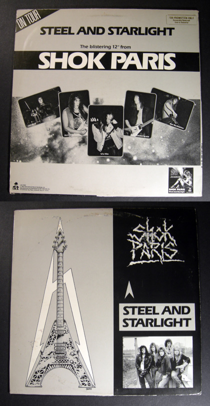 "SHOK PARIS 1987 IRS PROMO 12"" PS metal/hair"