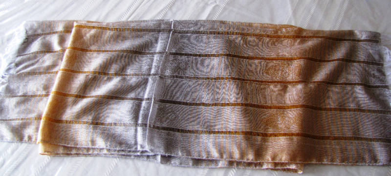 NEW HAND-MADE DELICATE SCARF/SHAWL,LATIN AMERICA,YELLOW