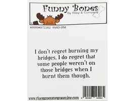 Riley & Company Funny Bones Rubber Cling Sentiment Stamp #RWD-058