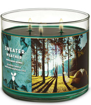 Bath & Body Works Sweater Weather Three Wick.14.5 Ounces Scented Candle - $22.49