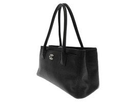 CHANEL Tote Bag Calf Leather Black CC Executive A67282 Authentic 5479245... - $2,096.20