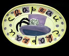 Girlie Girl Chapeau Ceramic Jewelry Plate - $6.99