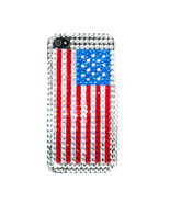 SHELL COVER CASE for APPLE iPhone 3G 3Gs BLING US FLAG - $7.74
