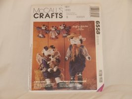 MCCALL'S CRAFTS 6558 A MOO-VING TALE (STUFF-N-STITCHES BY LIZ HANSEN) 1993 - $9.80