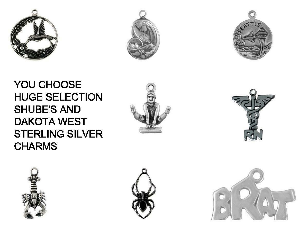 SOUTHWESTERN STERLING SILVER CHARMS .925 - YOU CHOOSE