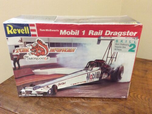 Primary image for Revell 1:25 Model #7497 - Mongoose Tom McEwen's Mobil 1 Rail Dragster - Sealed