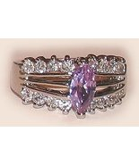 Im. Amethyst Solitaire Engagement Ring Size 8 Sterling Silver, Platinum ... - $39.99