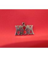 Vintage STERLING SILVER MOM Charm for Bracelet MOTHER Souvenir Collector - $6.95