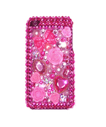 3D BLING FLOWER PINK DIAMOND COVER CASE for iPhone 3GS - $10.83
