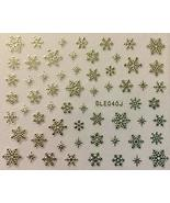 Nail Art 3D Decal Stickers Christmas Snowflakes Silver Winter - $5.92