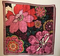 "vera bradley flowers floral scarf 27"" square - £22.42 GBP"