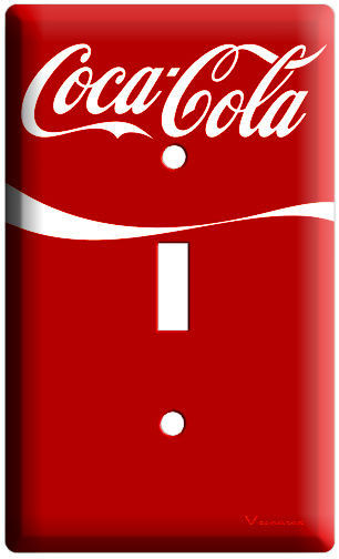 NEW RED VINTAGE COCA-COLA SINGLE RETRO LIGHT SWITCH COVER WALL PLATE ROOM DECOR