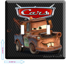 New Disney Cars 2 Mater Rusty Old Tow Truck Double Light Switch Wall Plate Cover - $10.79