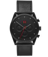 MVMT Element Chrono 44mm Ember Black Leather Men's Watch  - $139.00