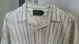 Polo Country Ralph Lauren Dry Goods White Green Stripe Western Country S... - $39.37