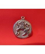 Vintage STERLING SILVER LEO LION ASTROLOGY Charm for Bracelet ZODIAC Bir... - $9.95