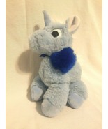 Manhattan Toy Company Floppies Unicorn Blue Plush Stuffed Animal Plastic... - $10.75