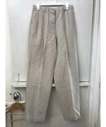 Liz Claiborne Lizsport Carefree Wrinkle Free Linen Cotton Tan Pants Wome... - $28.95