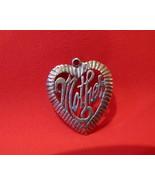 Vintage STERLING SILVER MOTHER Charm for Bracelet MOM HEART Souvenir Col... - $9.95