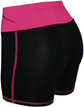 Women's W Sport Two Tone Athletic Work Out Fitness Stretch Gym Shorts AP-4815 image 13