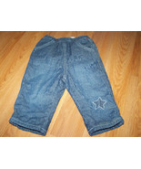 Infant Baby Size 6-9 Months The Children's Place Fleece Lined Denim Blue... - $14.00