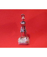 Vintage STERLING SILVER Lady GOLFER GOLFING Charm for Bracelet PEARL Gol... - $9.95