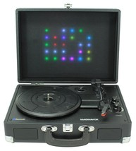 Magnavox MD699 Record Player Turntable Suitcase Stereo Bluetooth LED Lig... - $59.99