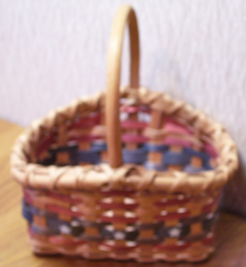 Patriotic Woven Basket w/Stars For Small Items