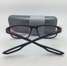 New PRADA Eyeglasses VPS 50G DG0-1O1 55-17 140 Rubberized Black & Red Fr... - $229.95