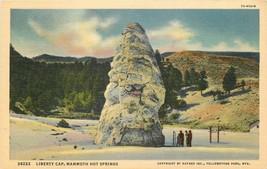 Linen Postcard WY H379 Liberty Cap Mammoth Hot Springs Yellowstone Curt ... - $7.00