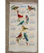 1972 vintage UNUSED LINEN CALENDAR KITCHEN TOWEL BIRDS aviary - $34.95