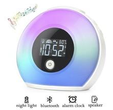 Wake Up Light Alarm Clock Bluetooth Speaker Music Kids Bedroom Table Lam... - €22,91 EUR
