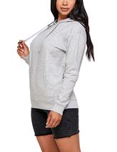 Women's Soft Lightweight Pull Over Sweatshirt Casual Drawstring Hoodie Sweater image 12