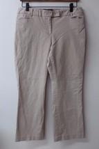 W10929 Womens Talbots Petites Khaki Stretch Straight Leg Casual Chino Pants 6P - $13.55