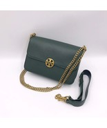 TORY BURCH Chelsea Convertible Shoulder Bag Moss Green Authentic - $335.00