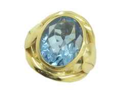 sublime Blue topaz CZ Gold Plated Blue Ring wholesales US 6,7,8,9 - $9.99