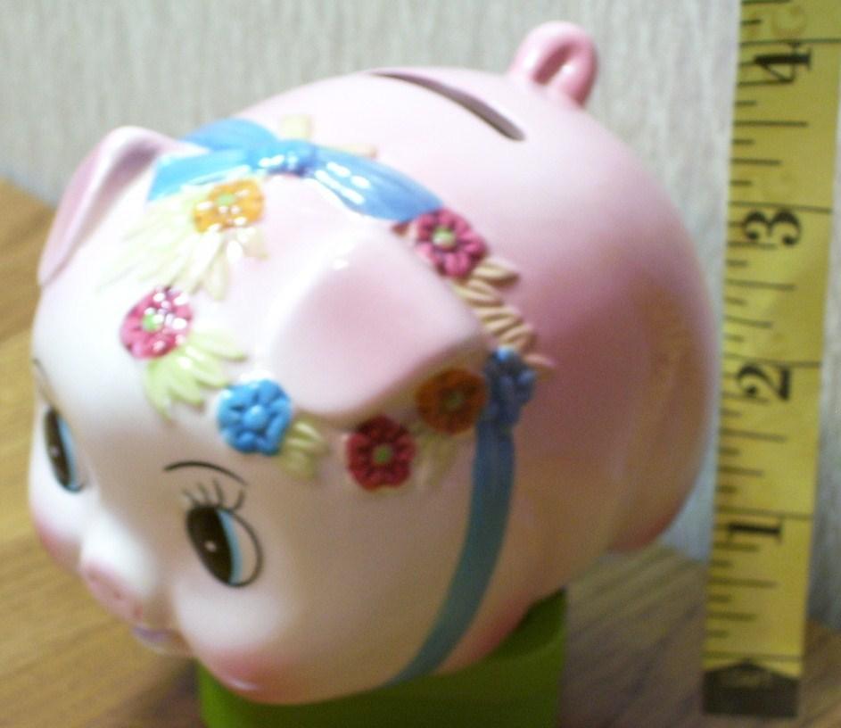 Pink piggy bank  1