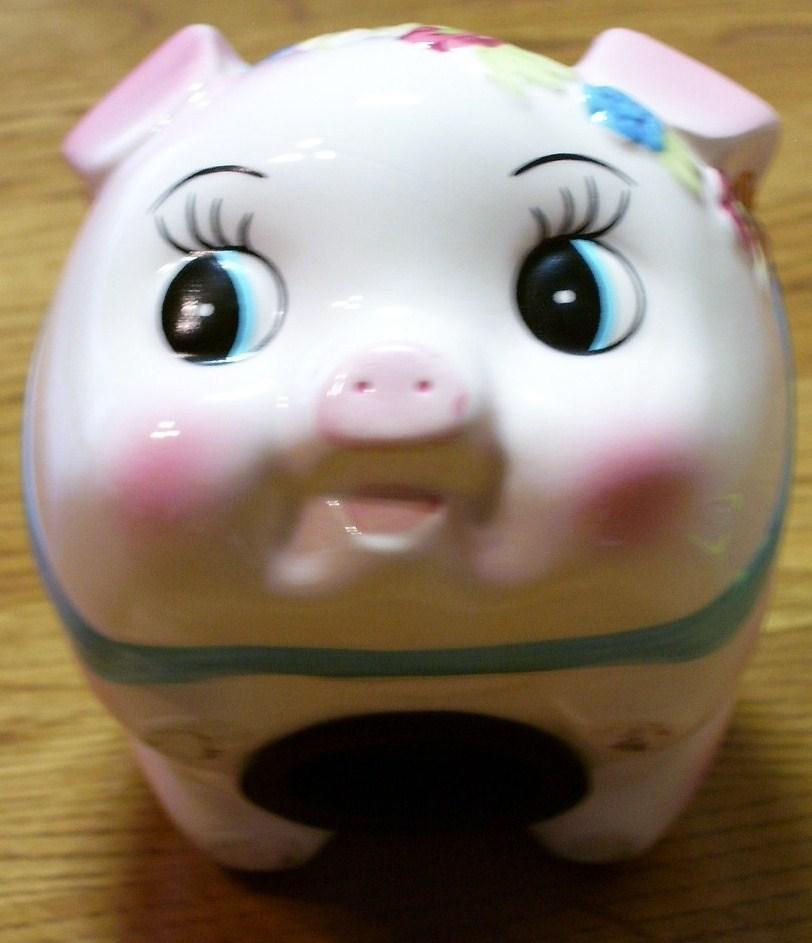 Pink Pig Piggy Bank New Very Cute!