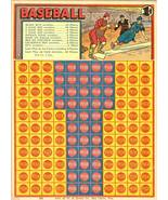 vintage punch board card baseball gambling rare 1930s - $149.99
